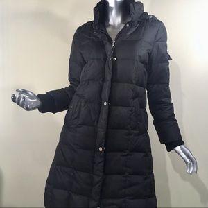 Tommy Hilfiger Long Black Puffer Winter Coat